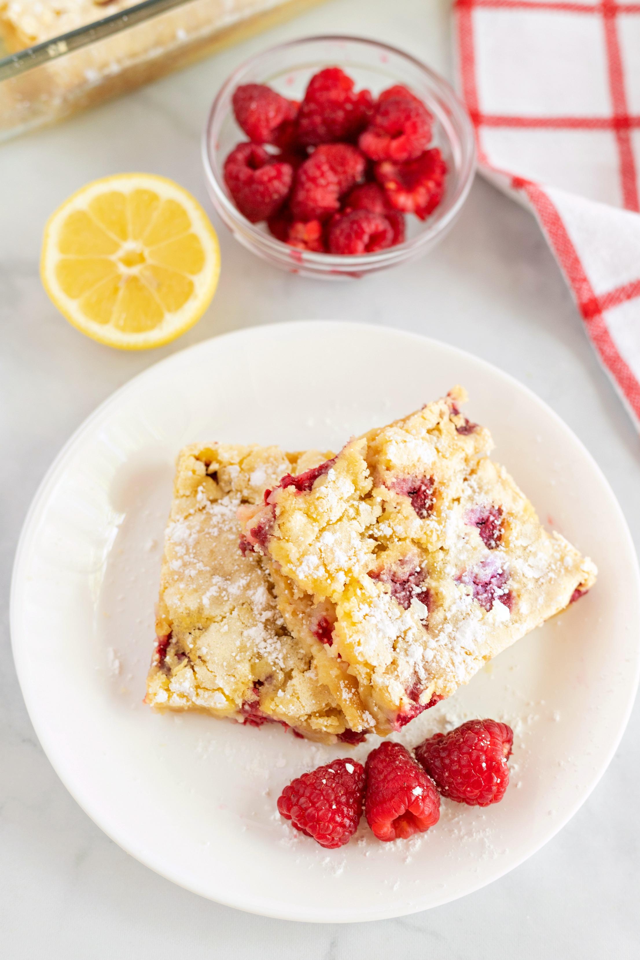 lemon and raspberry bars