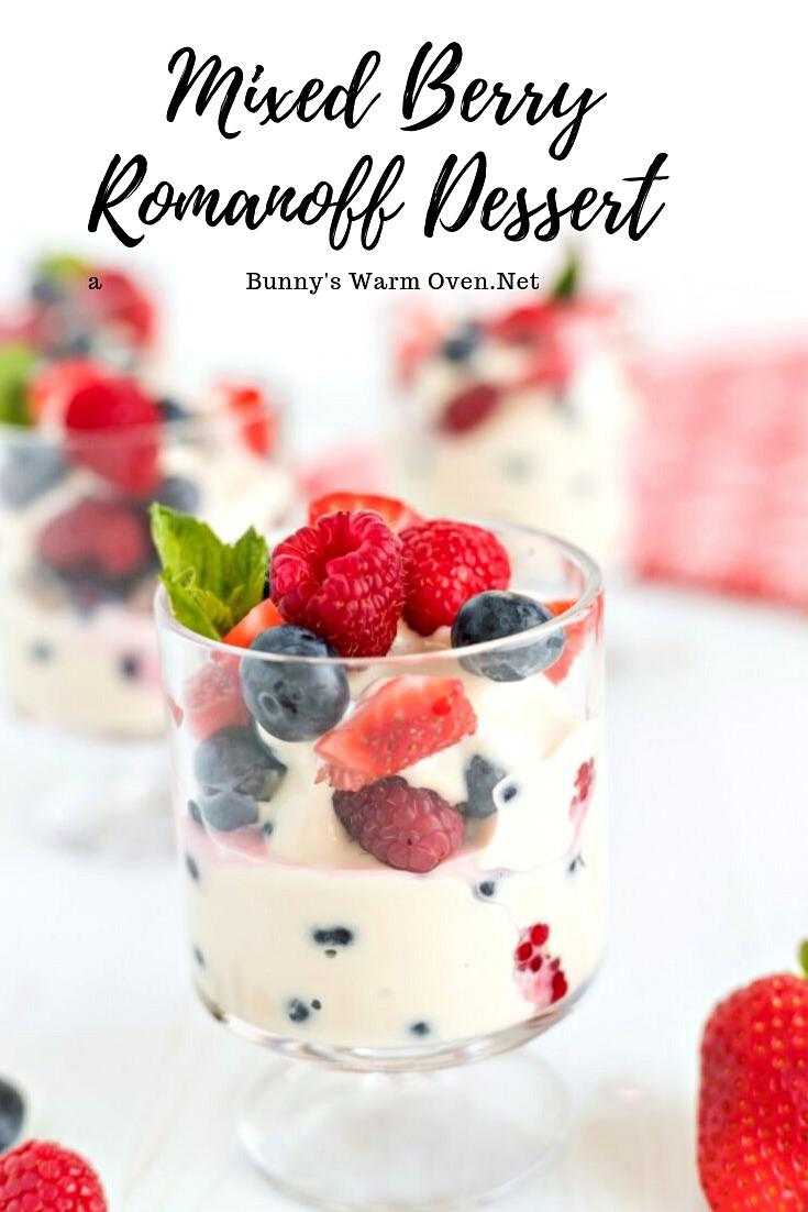 Mixed Berry Romanoff