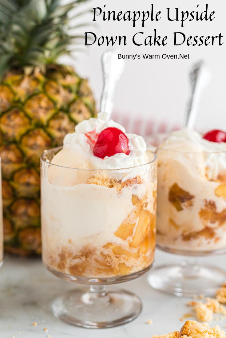 Pineapple Upside Down Cake Dessert via @BunnysWarmOven
