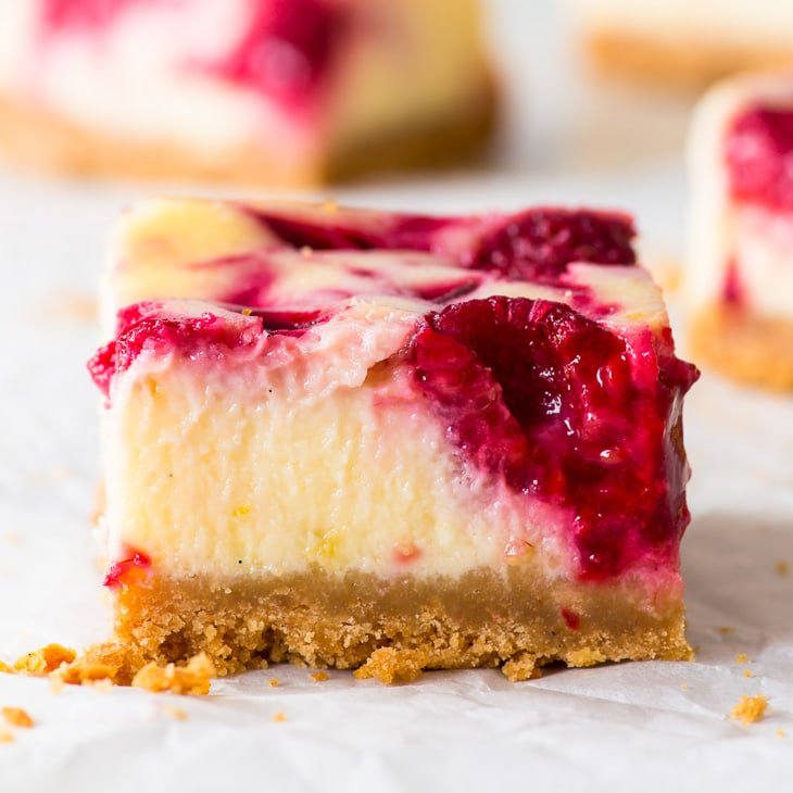 Small Batch Raspberry Cheesecake Bars