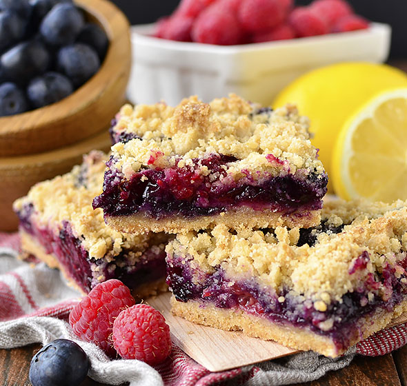 Triple Berry Crumb Bars - Easy Gluten-Free Dessert Recipe