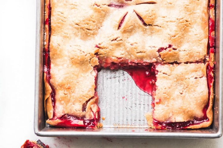 Easy Raspberry Slab Pie