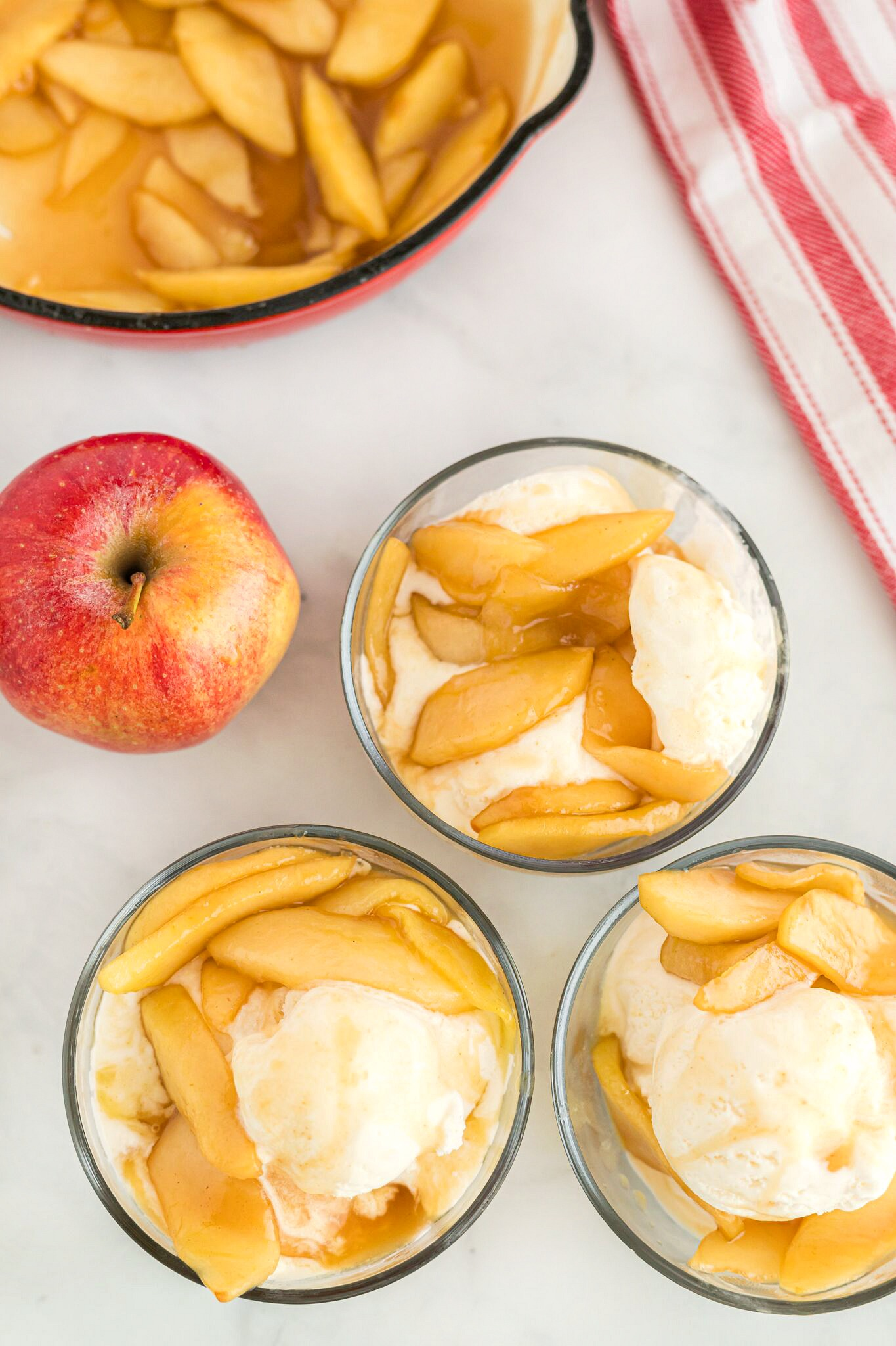 Apple Sundae dessert