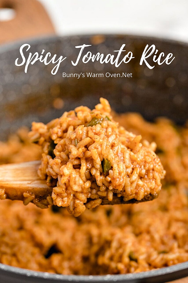 Spicy Tomato Rice via @BunnysWarmOven