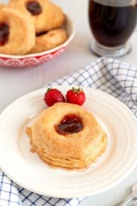 Strawberry Filled Buttermilk Biscuits