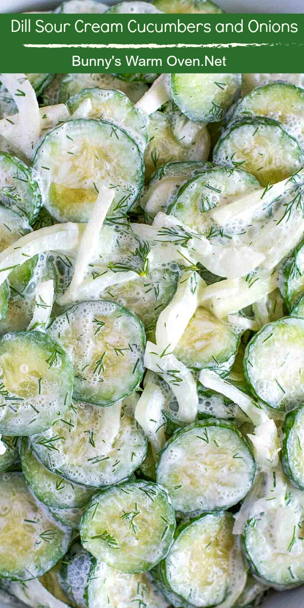 Dill Sour Cream Cucumbers and Onions