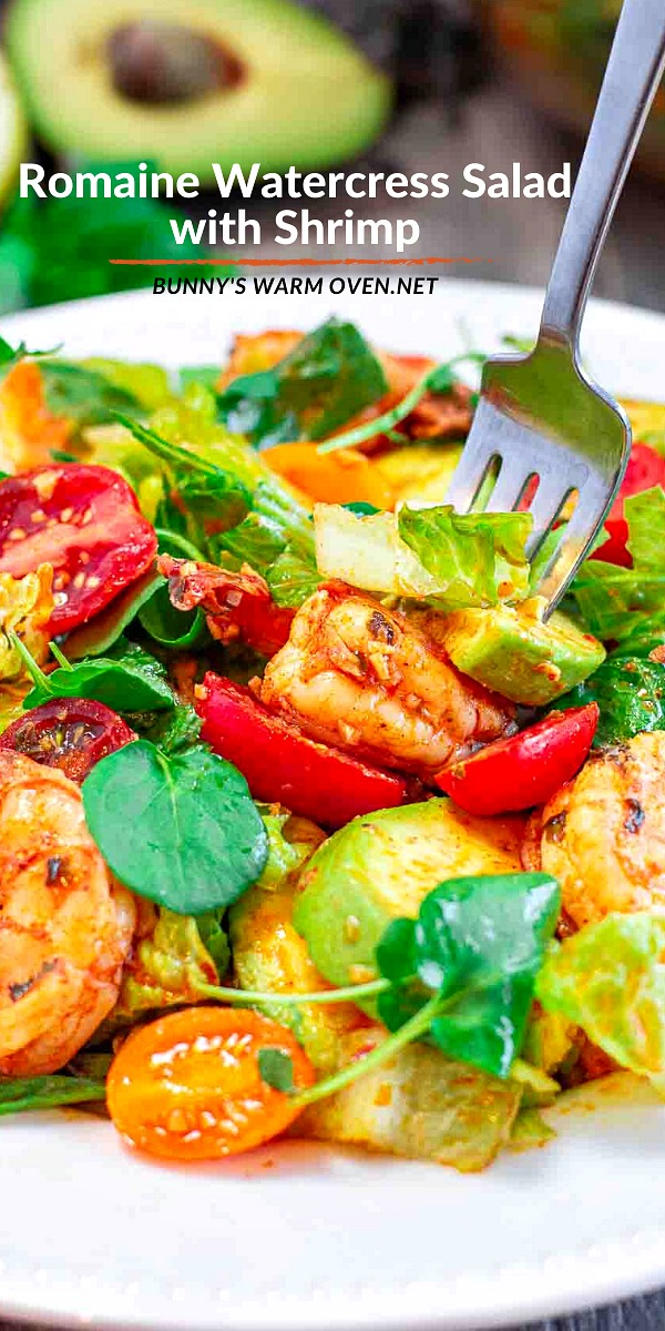 Romaine Watercress Salad with Shrimp