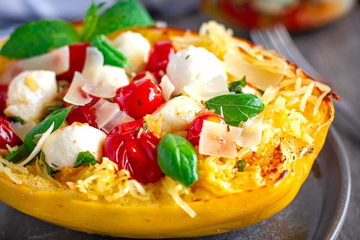 Roasted Spaghetti Squash with Tomato Chutney