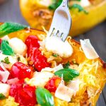 Roasted Spaghetti Squash with Roasted Tomatoes