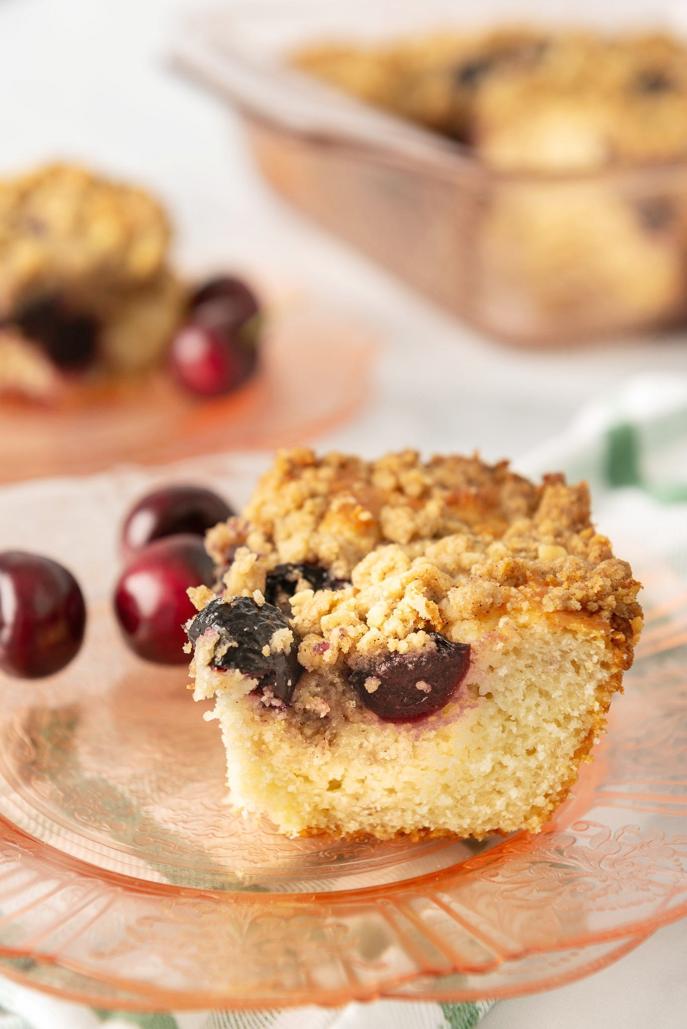 cherry coffee cake bars