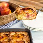 Nine Inch Peach Cake