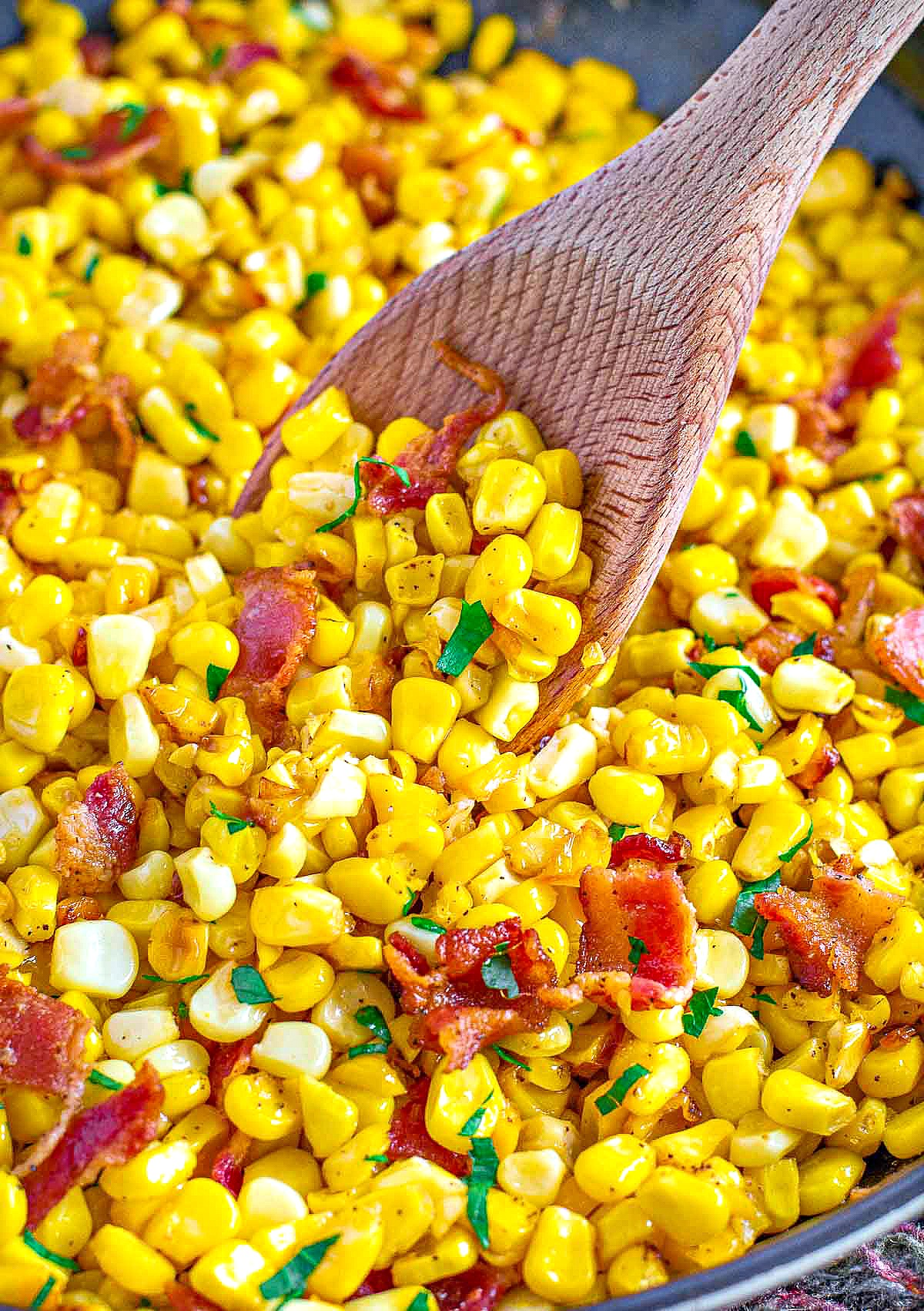 Fresh Corn and Bacon Side Dish